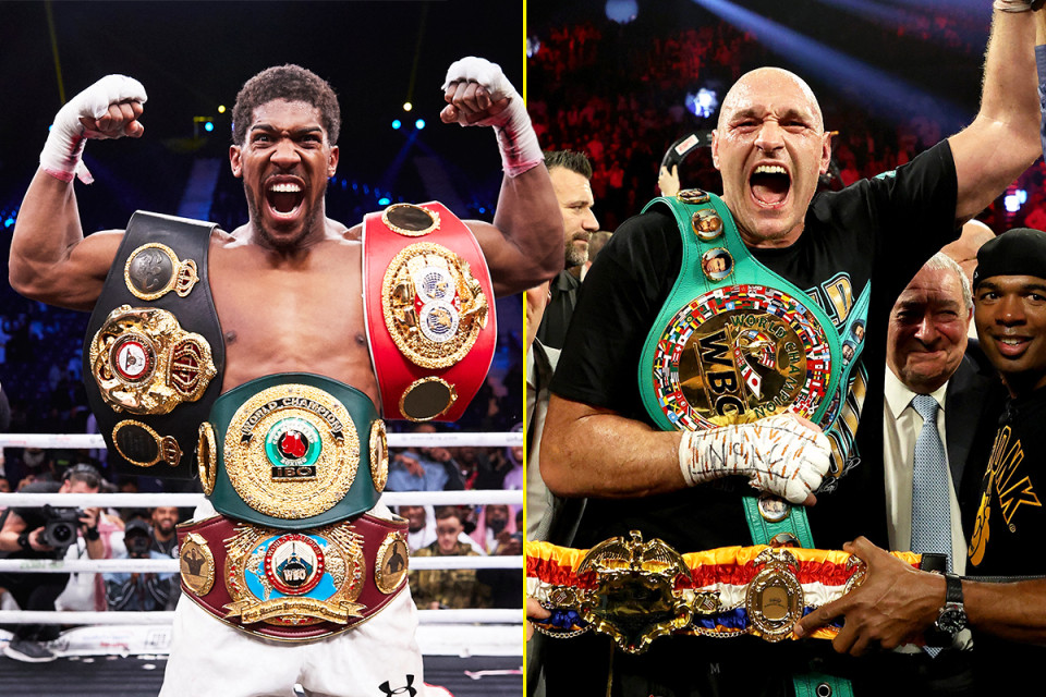ANTHONY JOSHUA AND TYSON FURY TO EQUALLY SHARE SAUDI ARABIA HOSTING FEE OF $150MILLION FOR BLOCKBUSTER FIGHT.PHOTOS