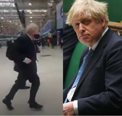 NIGERIANS REACT AS UK PRIME MINISTER, BORIS JOHNSON IS SEEN RUNNING TO CATCH A TRAIN (PHOTOS)