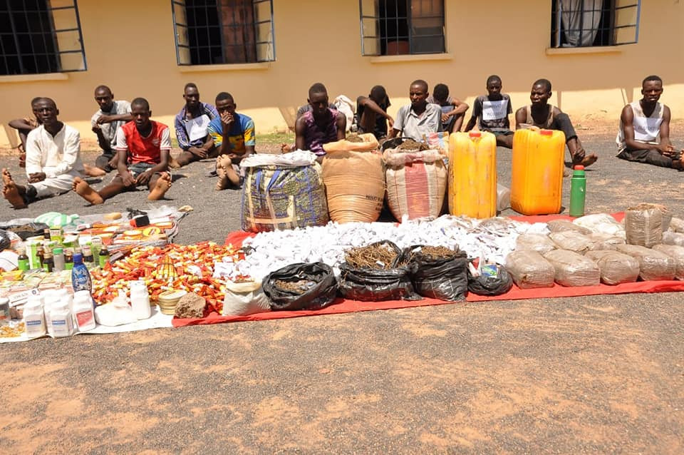 POLICE ARREST 52 SUSPECTS, RECOVER ARMS, AMMUNITION AND ILLICIT DRUGS WORTH N3M IN ADAMAWA. PHOTOS