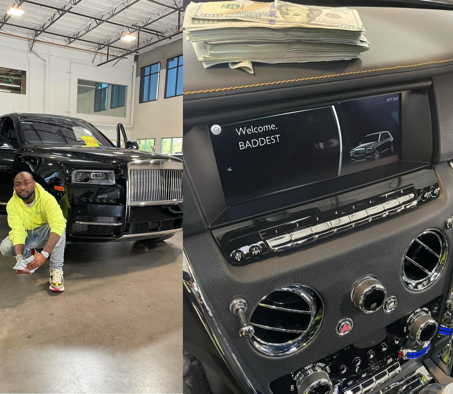 DAVIDO ACQUIRES 2021 ROLLS ROYCE CULLINAN WORTH ABOUT $500,000 (PHOTOS)