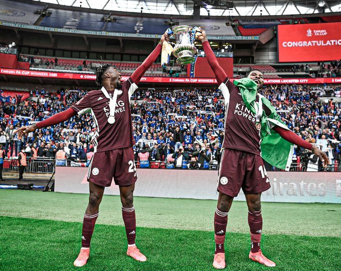 IHEANACHO AND NDIDI WIN THEIR FIRST FA CUP WITH LEICESTER CITY AFTER 1 – 0 VICTORY AGAINST CHELSEA (PHOTOS)