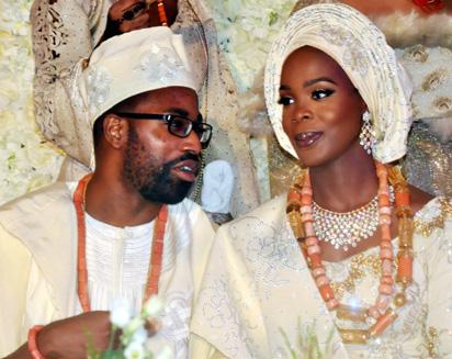 MEET TOSIN SARAKI, THE DAUGHTER OF BUKOLA SARAKI WHO GOT MARRIED TO A CHRISTIAN MAN.  PHOTOS
