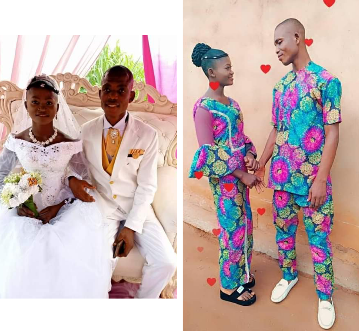"""""""WE DID AS WE CAN WITHOUT GOING INTO DEBTS"""" – NIGERIAN MAN SAYS AS HE SHARE PHOTOS FROM HIS LOW-KEY WEDDING"""