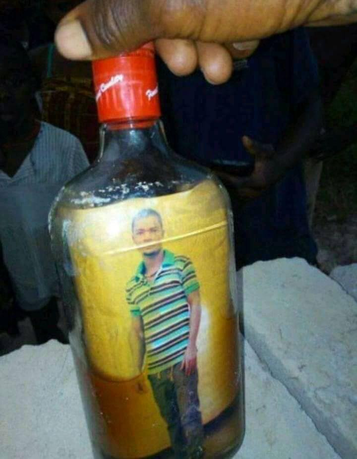 PHOTO OF TURKEY-BASED NIGERIAN MAN ALLEGEDLY FOUND INSIDE A BOTTLE BURIED IN FRONT OF HIS UNCOMPLETED BUILDING. PHOTOS