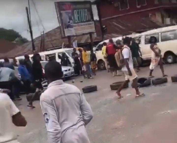 JUNE 12: YOUTHS BLOCK ROADS IN BENIN