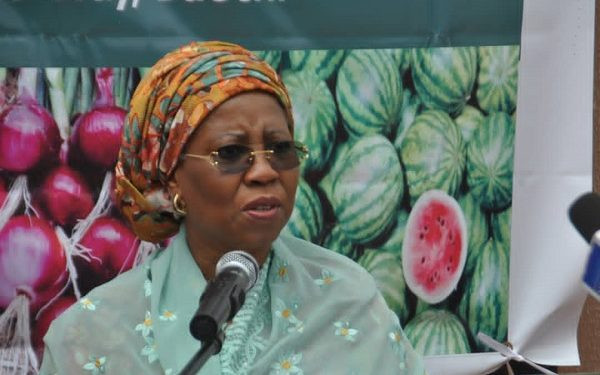 MINISTER OF STATE FOR INDUSTRY, MARYAM YALWAJI KATAGUM, ALLEGEDLY COLLAPSES DURING OFFICIAL ENGAGEMENT IN BAUCHI