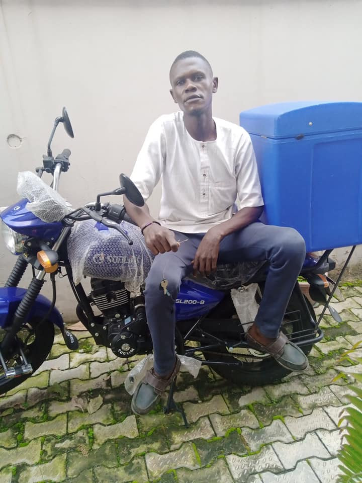 DISPATCH RIDER ALLEGEDLY DISAPPEARS WITH BOSS' BIKE ON FIRST DAY OF WORK