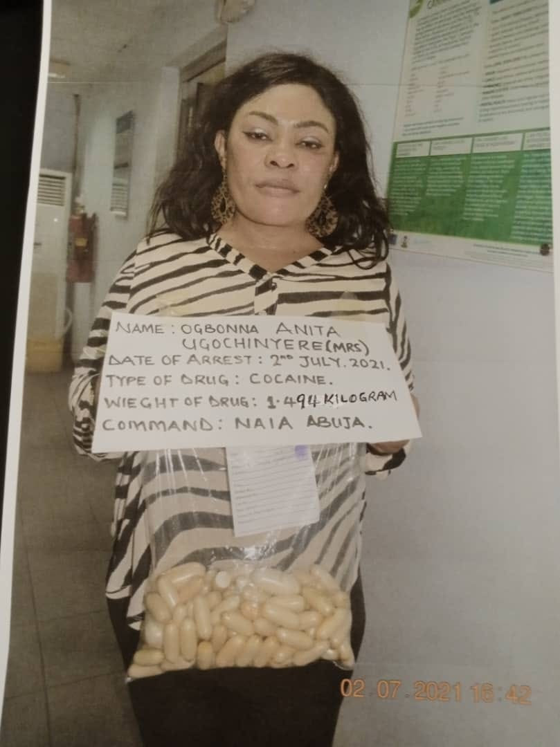 NDLEA ARRESTS BRAZIL-BASED MOTHER OF THREE WITH 100 WRAPS OF COCAINE CONCEALED IN HER PRIVATE PART, HANDBAG