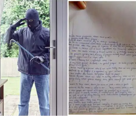 THIEF LEAVES EMOTIONAL APOLOGY NOTE AFTER STEALING FROM A HOUSE IN INDIA