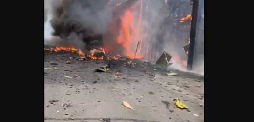 THREE KILLED AS PRIVATE JET CRASHES AND EXPLODES INTO A FIREBALL (PHOTOS)