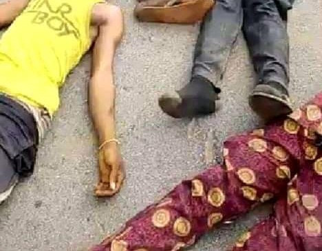 FIVE SUSPECTED KIDNAPPERS BURNT TO DEATH BY ANGRY YOUTHS IN EDO (VIDEO/PHOTOS)