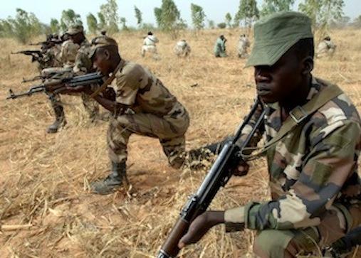 TERRORISTS KILL 15 SOLDIERS IN AMBUSH