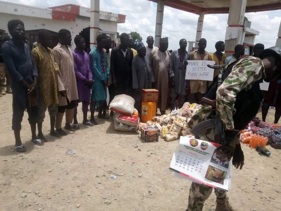 MORE BOKO HARAM FIGHTERS SURRENDER TO NIGERIAN TROOPS (PHOTOS)
