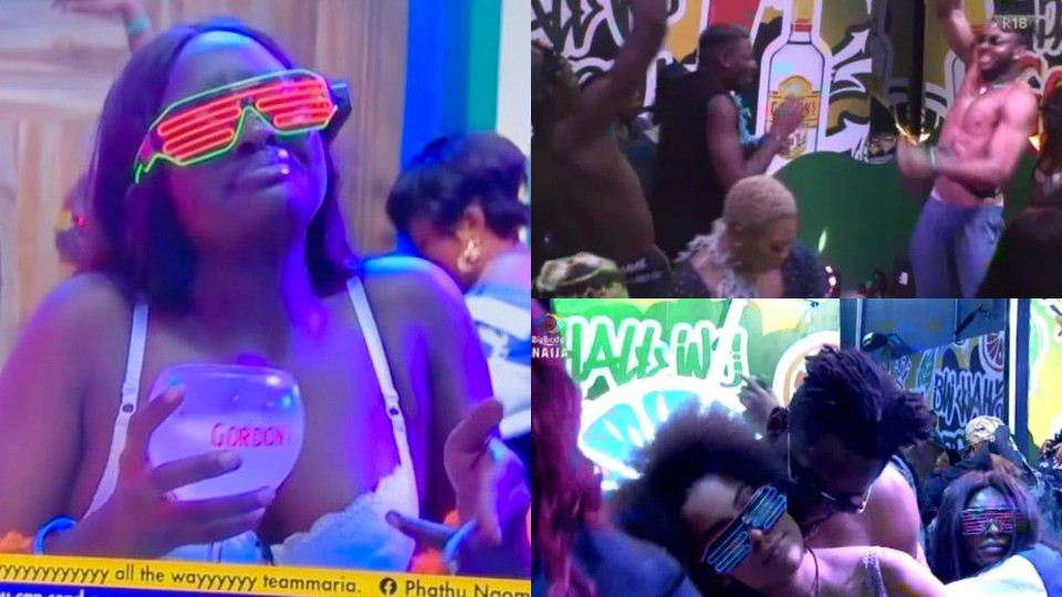 BBNaija 2021: Highlights from housemates' old school themed Saturday night party