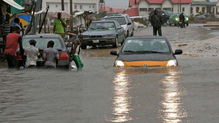PHOTOS OF SEVERAL VEHICLES AND OTHER PROPERTIES DESTROYED BY HEAVY RAINFALL IN ABUJA