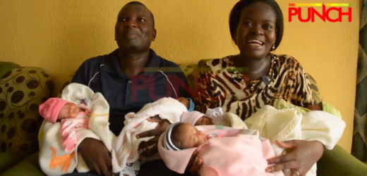 GOD 'EMBARRASSED' US WITH FIVE KIDS AFTER WAITING FOR SIX YEARS –LAGOS COUPLE
